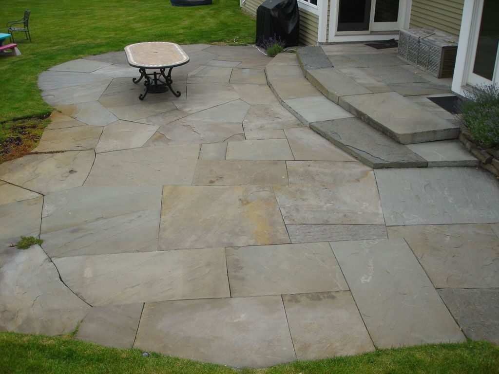 Blue Stone Patio Construction In Westchester County Ny This