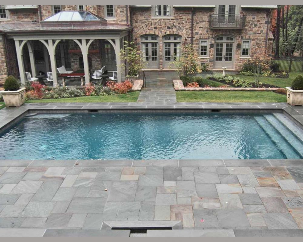 Bluestone Flagstone Swimming Pool Paving