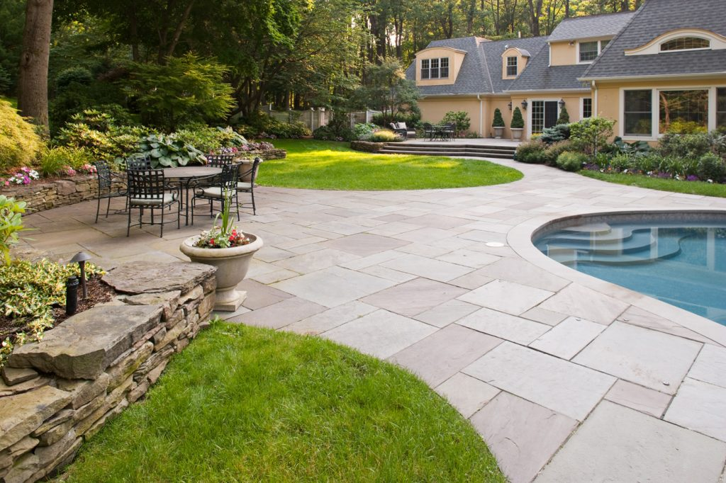 Bluestone Patio Pool 1400x933 Cording Landscape Design