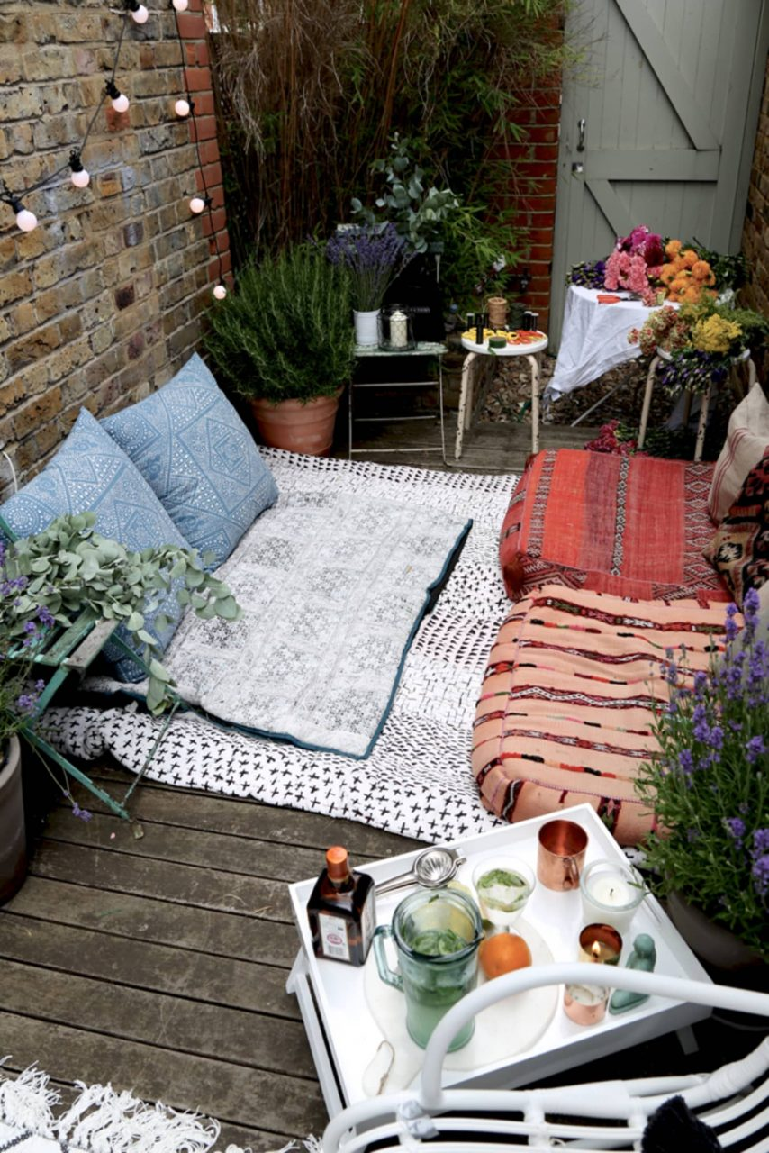 Bohemian Decor Ideas For Outdoor Patio Space Apartment Therapy
