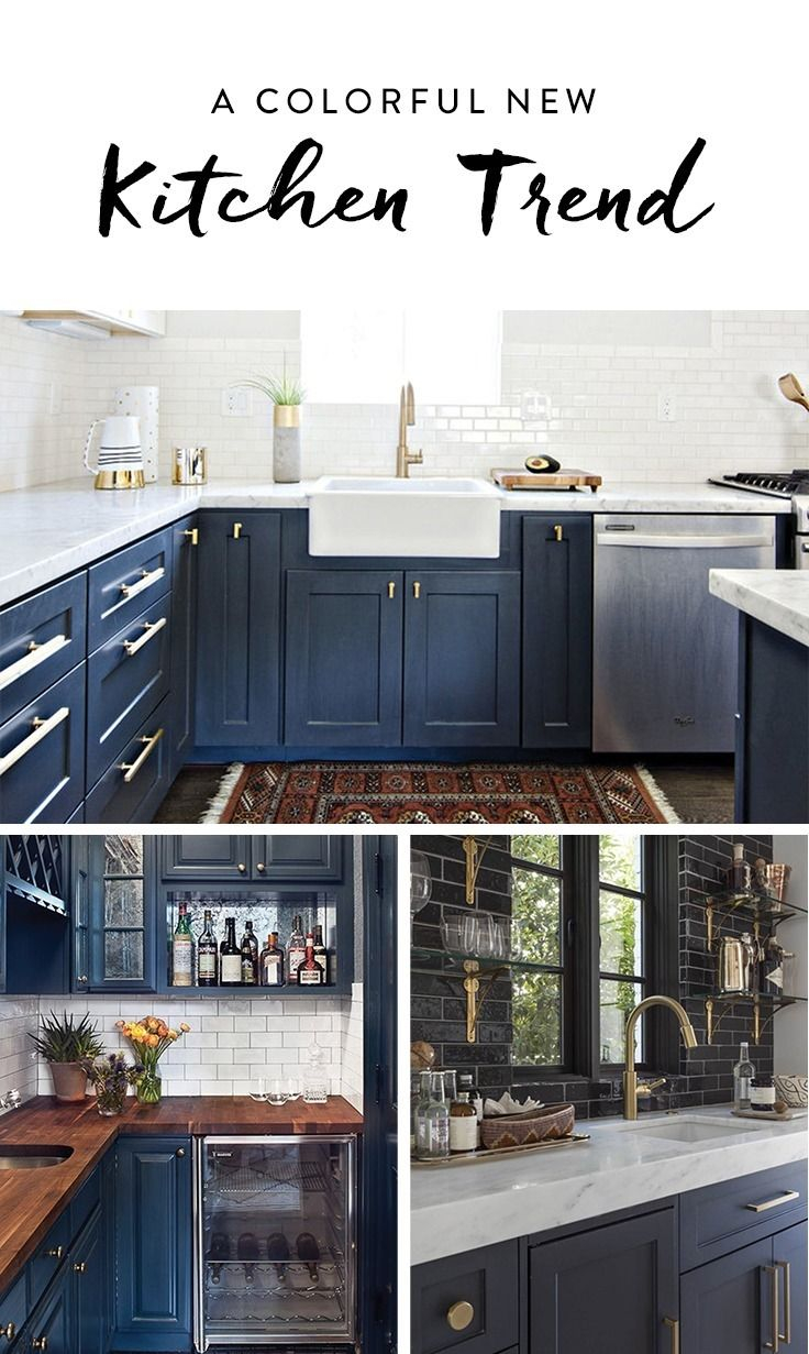 Break Out The Paint Blue Kitchens Are Trs Chic Right Now No
