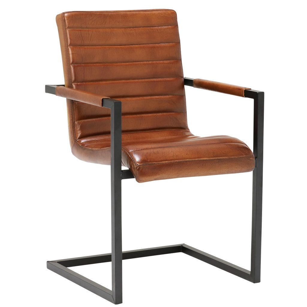 Brutus Buffalo Leather Dining Chair Brown Barker Stonehouse