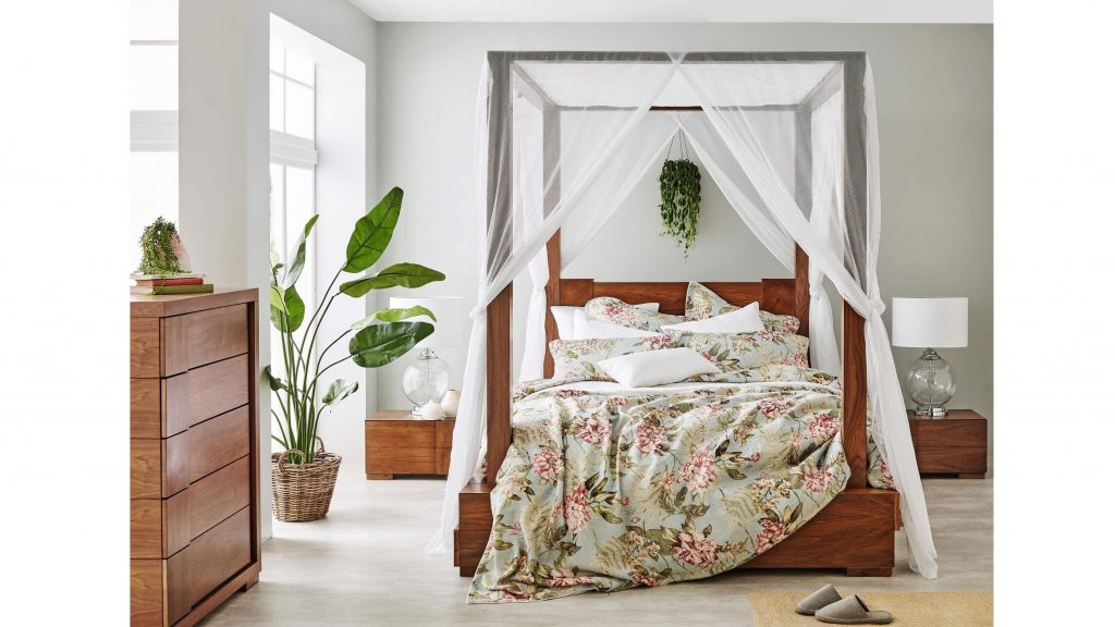 Buy Lavenue Ivory Bed Canopy Harvey Norman Au