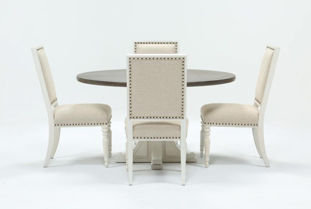Candice Ii 5 Piece Round Dining Set Living Spaces