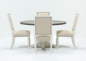 Candice II 5 Piece Dining Set Round