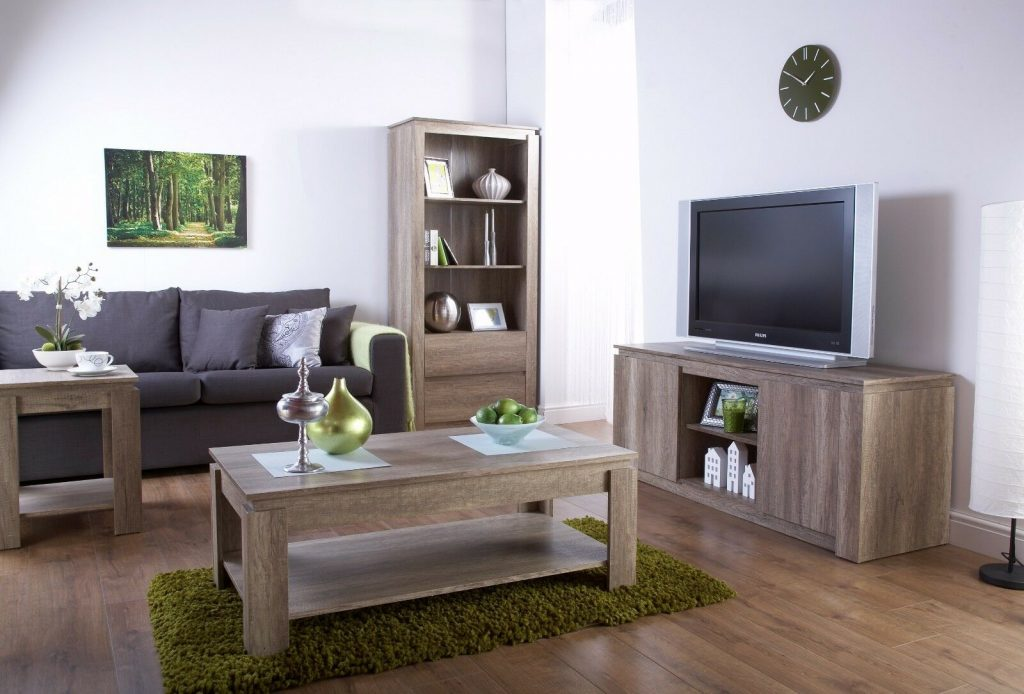 Canyon Dark Oak Living Room Furniture Coffee Table Tv Unit