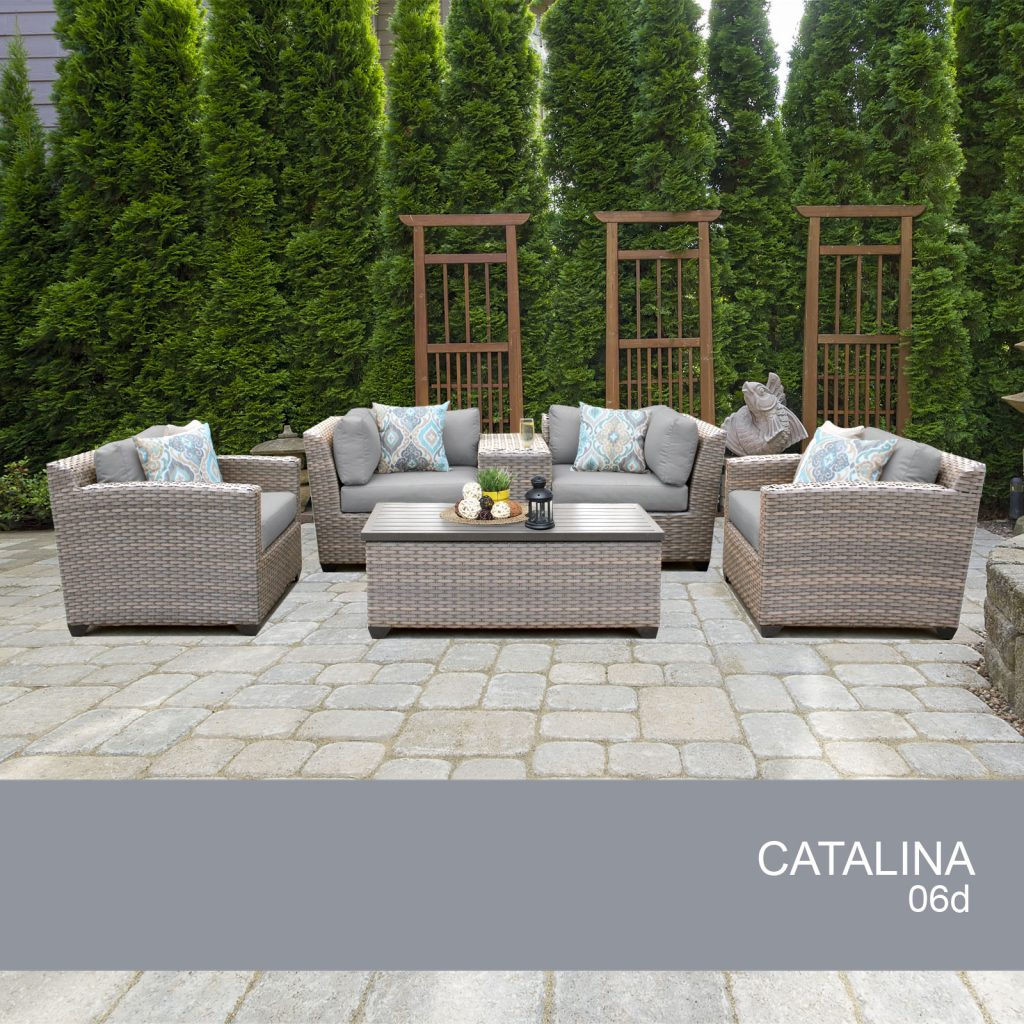 Catalina 6 Piece Outdoor Wicker Patio Furniture Set 06d Walmart