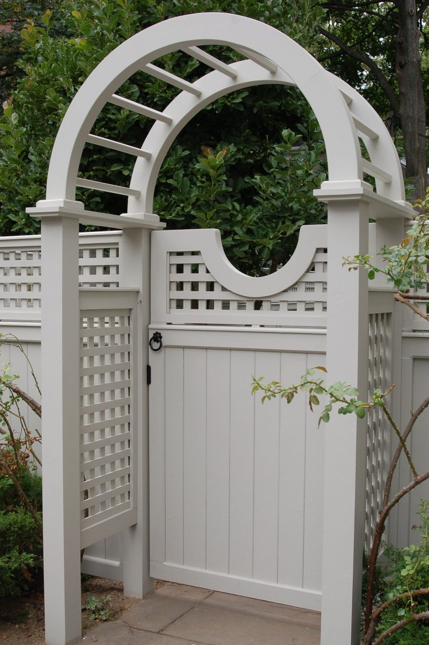 Cedar Wood Lattice And Board Gate And Arbor Gates In 2019 Arbor