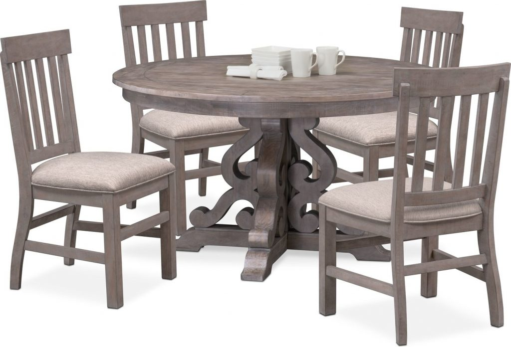 Charthouse Round Dining Table And 4 Side Chairs Value City