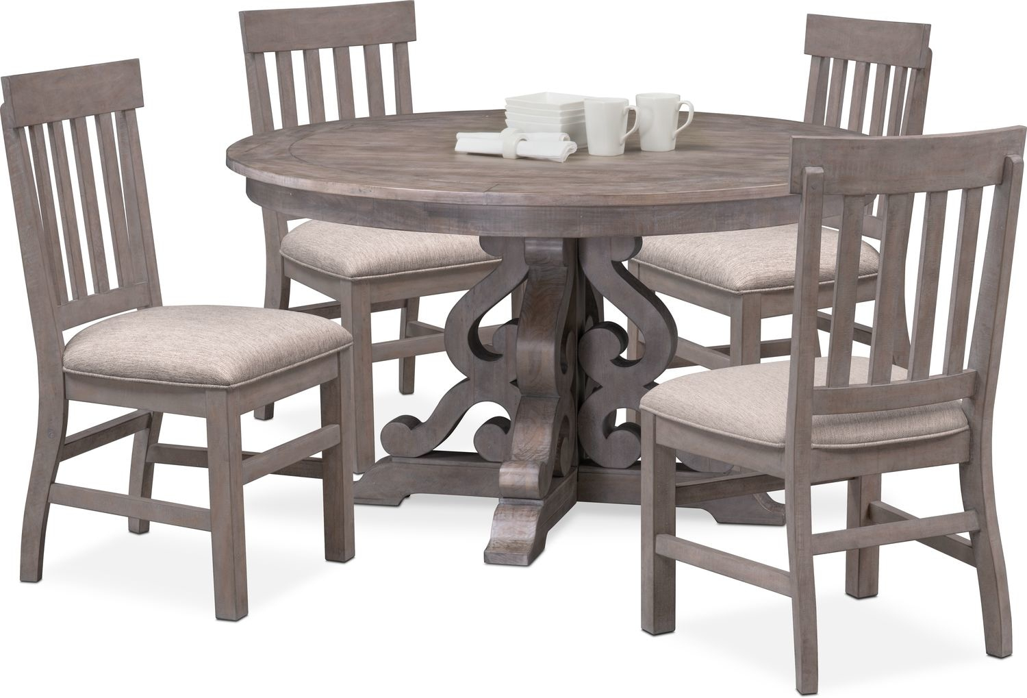 Charthouse Round Dining Table And 4 Side Chairs Value City Layjao