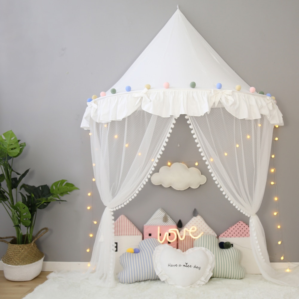 Childrens Teepee Tent For Kids Canopy Drapes For Cribs Ba Girl