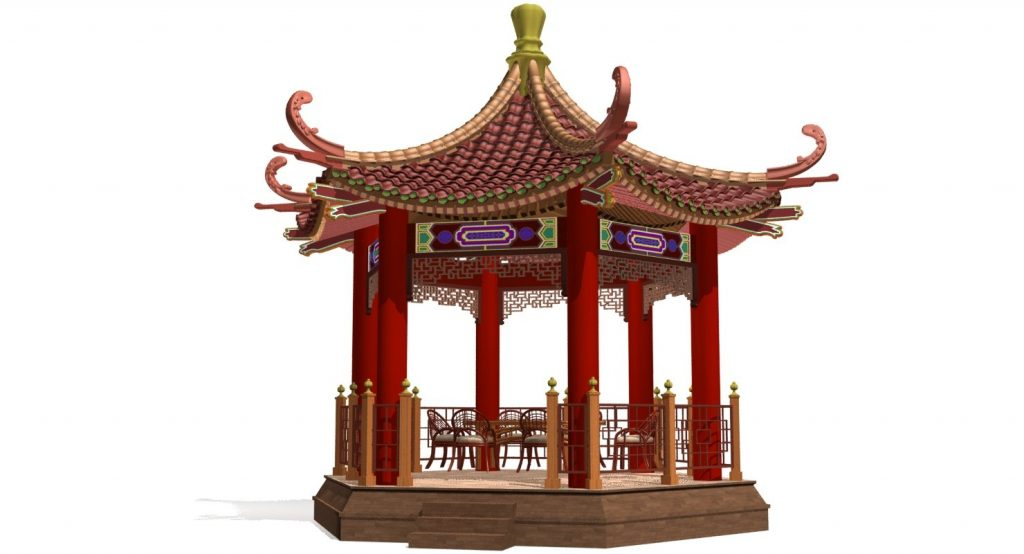 Chinese Gazebo 3d Model In Fantasy 3dexport