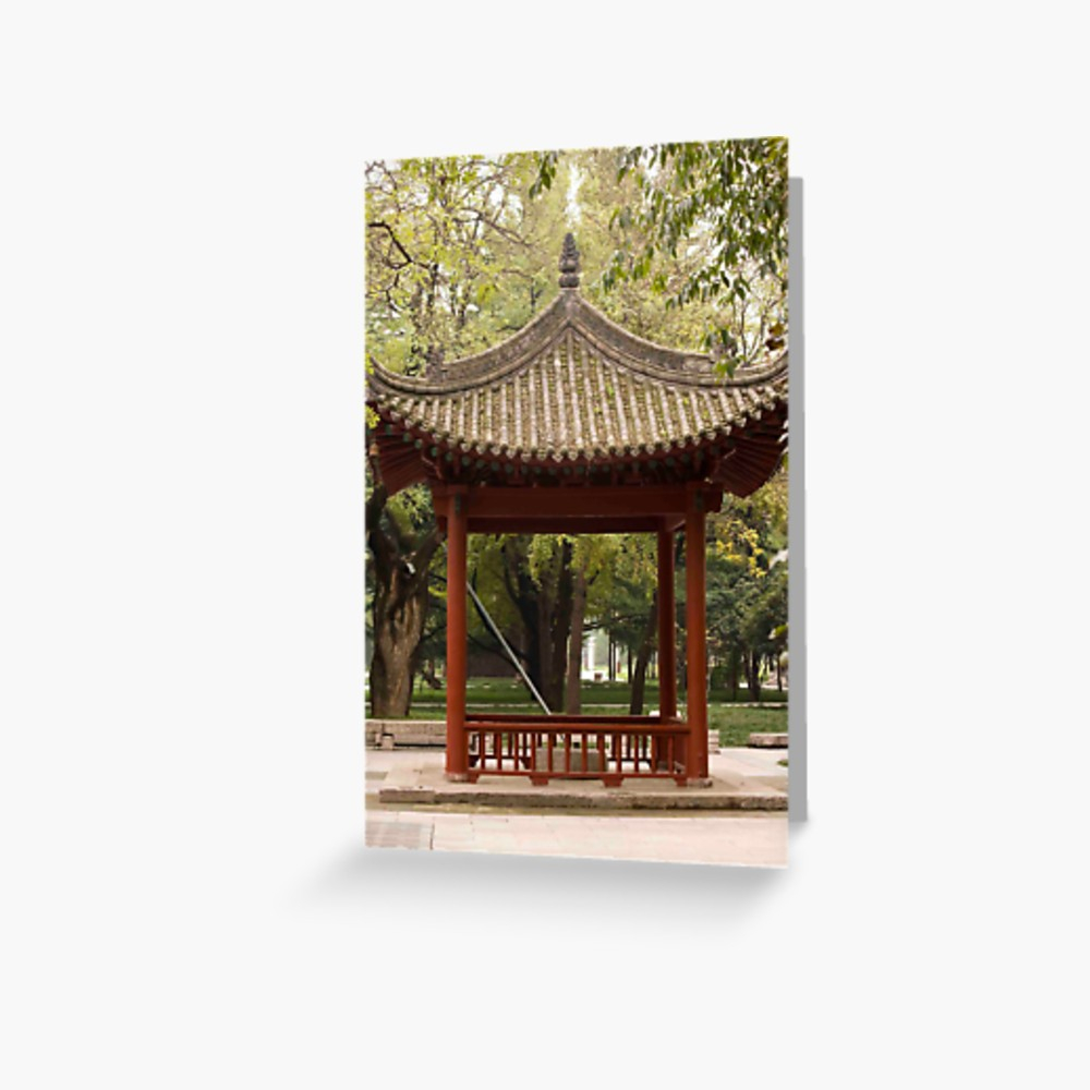 Chinese Gazebo Greeting Card Pdecocco Redbubble