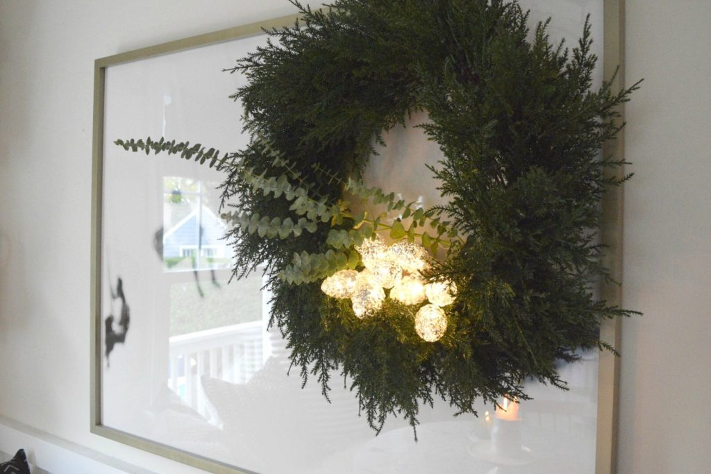 Christmas In Our Small Kitchen Started With Christmas Garland