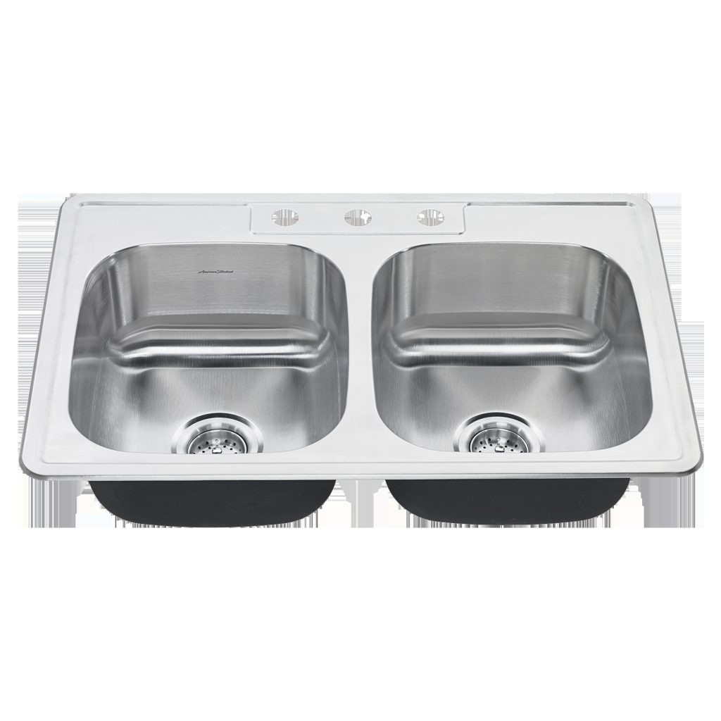 Colony 33x22 Double Bowl Stainless Steel Kitchen Sink American Standard