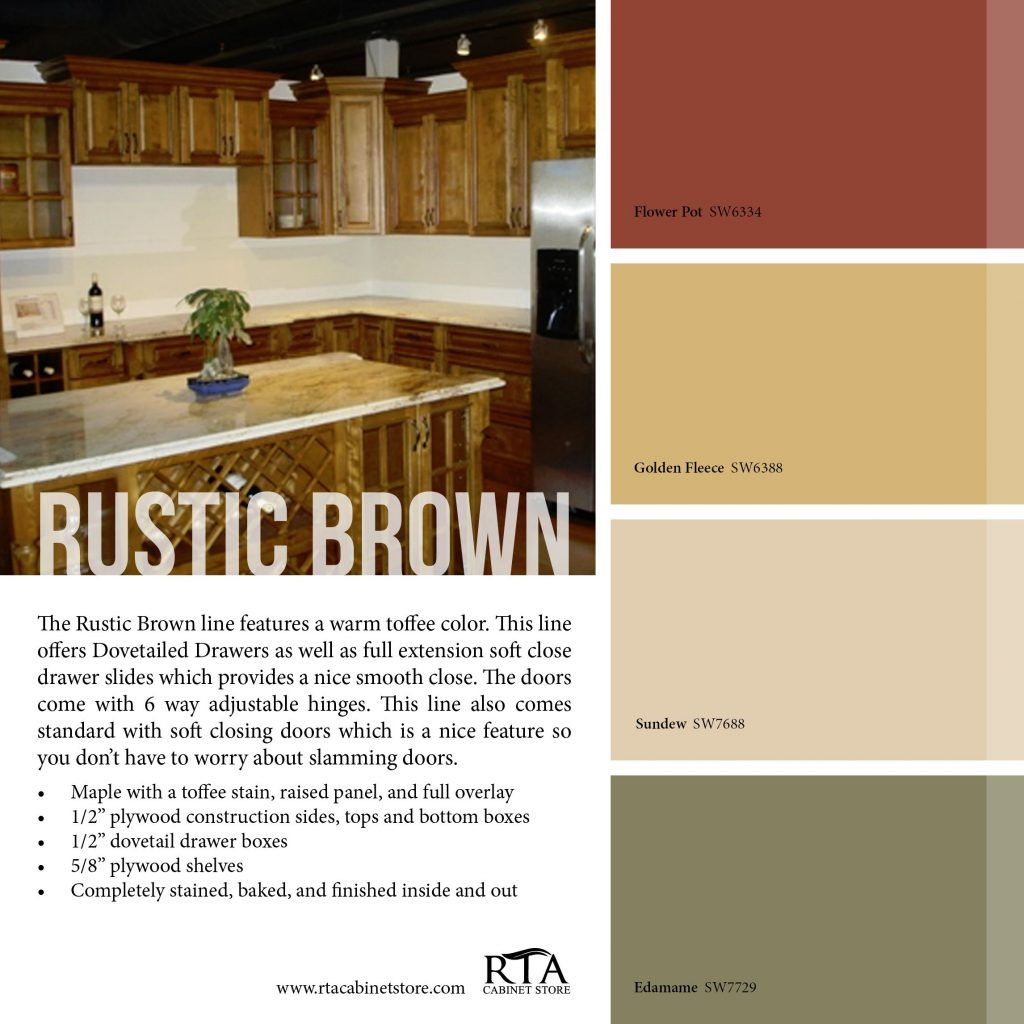 Color Palette To Go With Our Rustic Brown Kitchen Cabinet Line Might