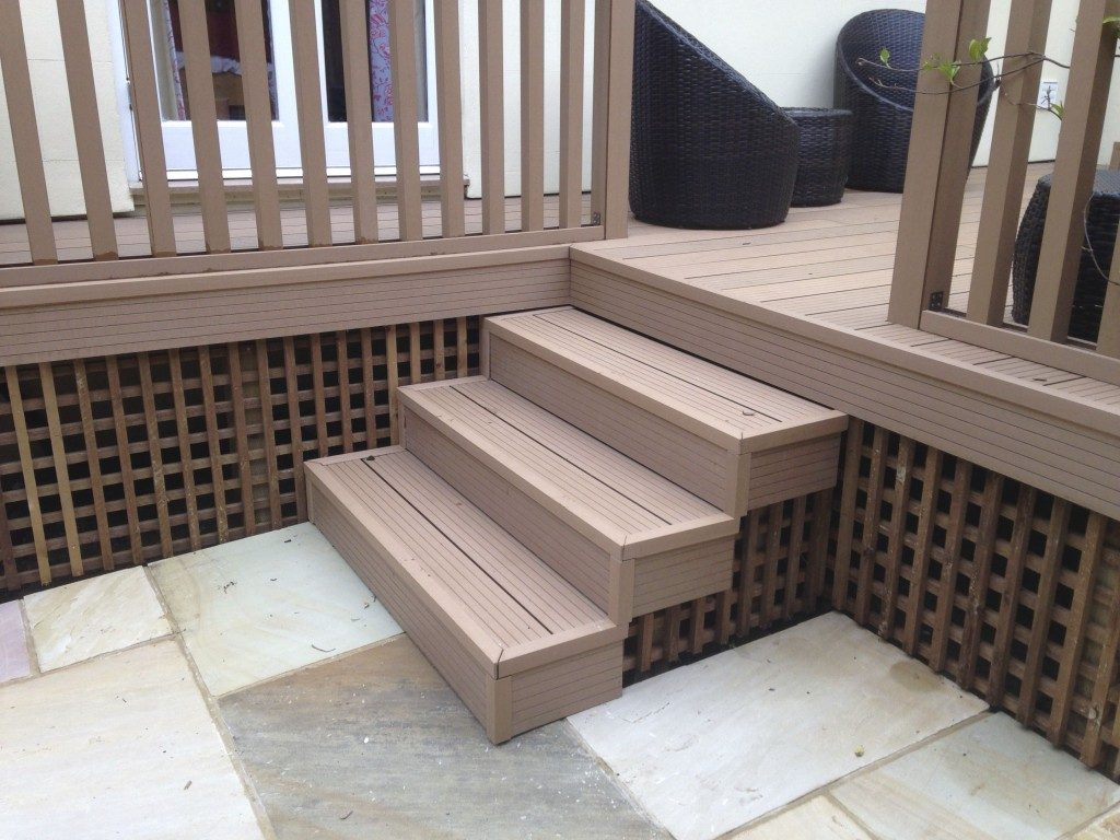 Composite Decking Steps On Concrete Kit Over Trex Using For Stairs