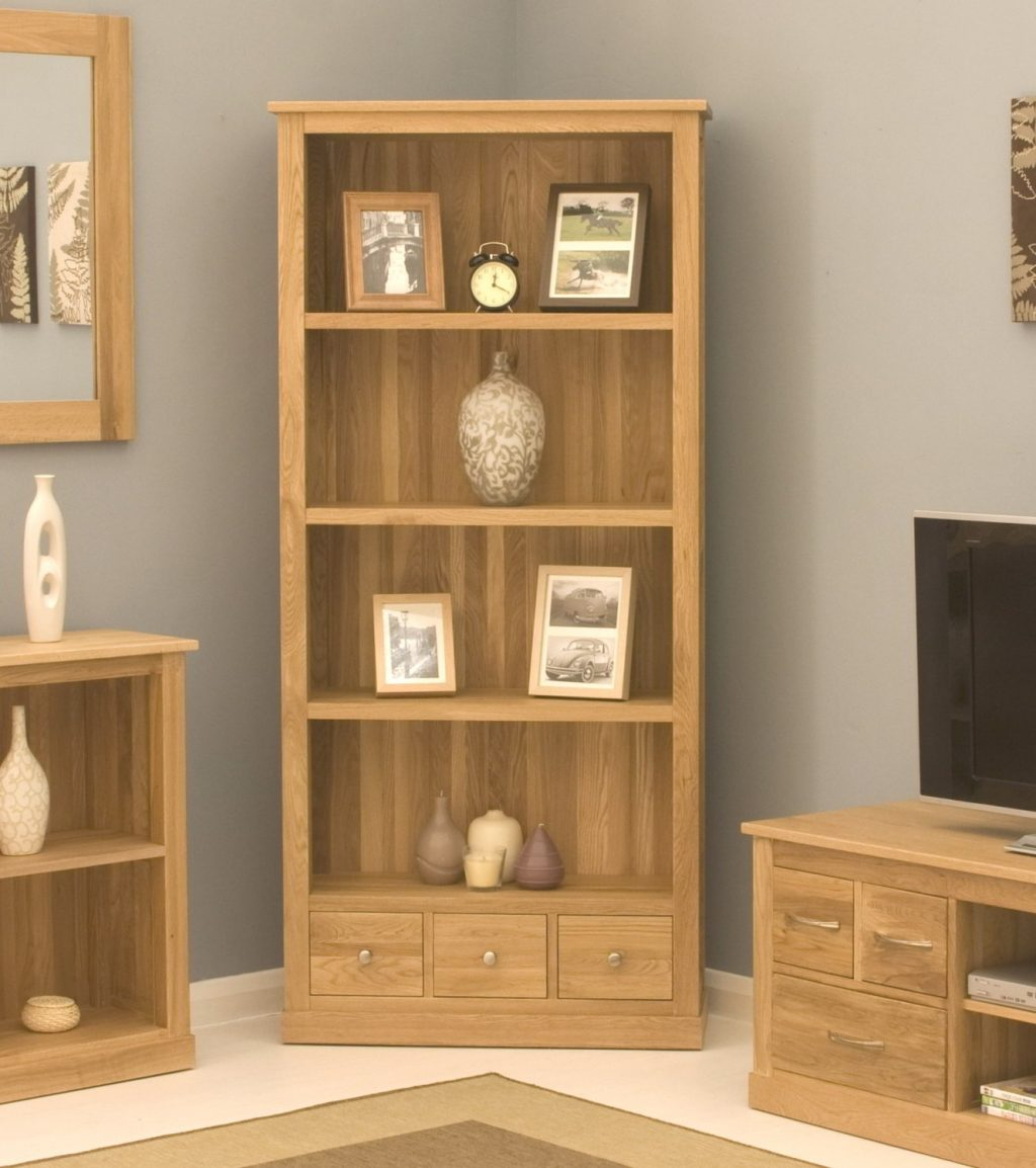 Conran Solid Oak Modern Furniture Large Office Living Room Bookcase