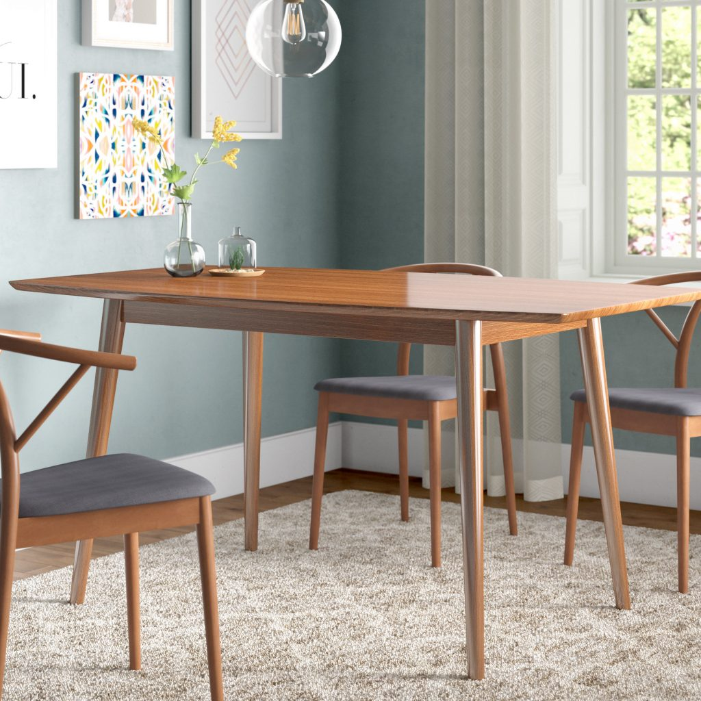 Corrigan Studio Weller Mid Century Dining Table Reviews Wayfair