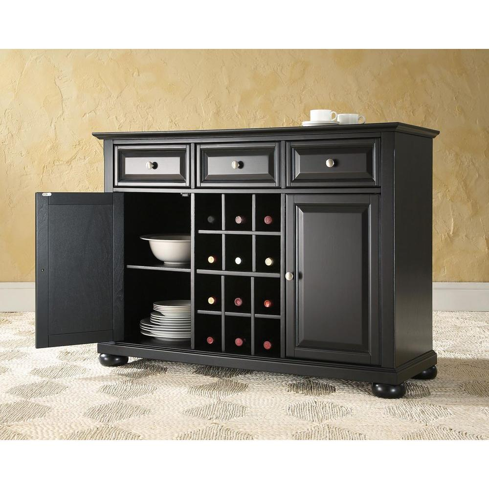 Crosley Alexandria Cherry Buffet Kf42001ach The Home Depot