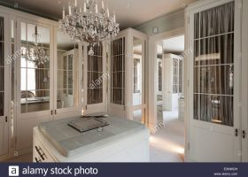 Dressing Room with Chandelier