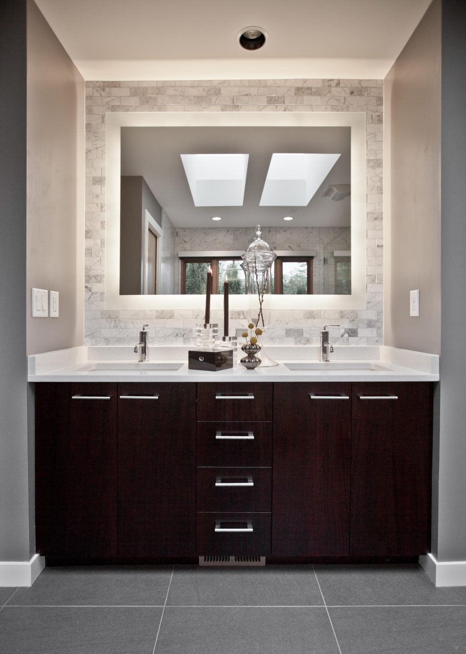 Dark Cabinets Light Counters Gray Floors Home Ideas Master