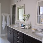 Bathrooms with Dark Cabinets and Light Walls