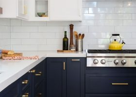 White Upper Dark Lower Kitchen Cabinets