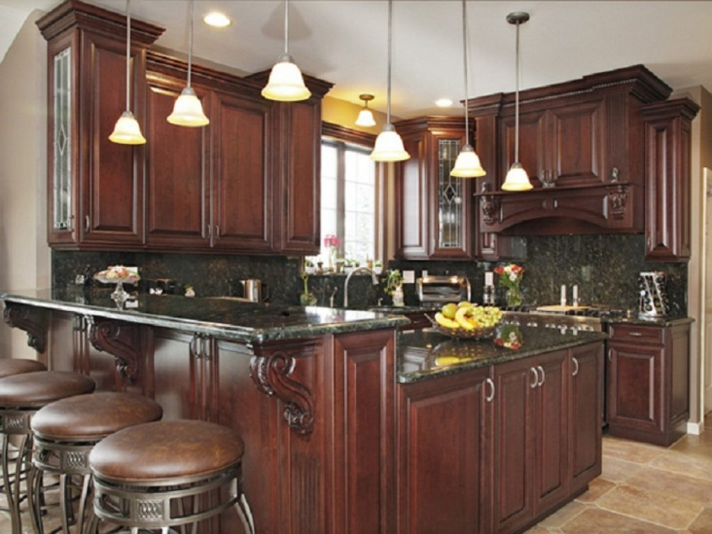 Dark Wood Cabinet Designs Innovative Traditional Kitchen Cabinets