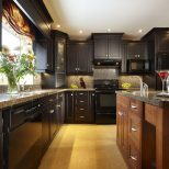 Dark Wood Kitchens Walnut Color Traditional Kitchen Design Ideas