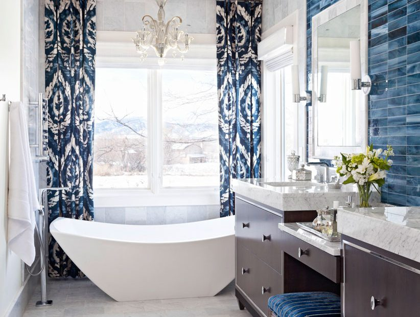Decorating Ideas For Blue And White Bathrooms Traditional Home
