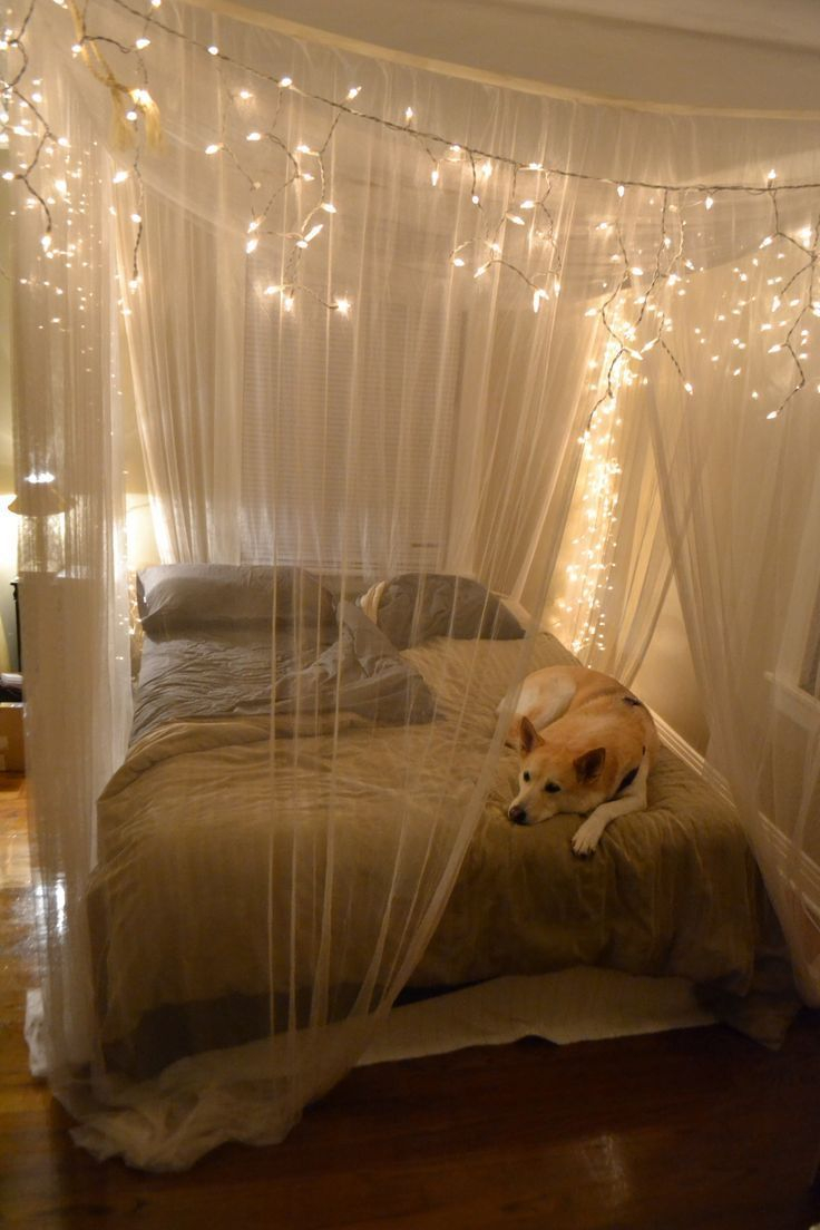 Decoration Rustic Queen Bedroom Design With Hanging White String