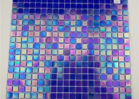 Iridescent Mosaic Tile Bathroom