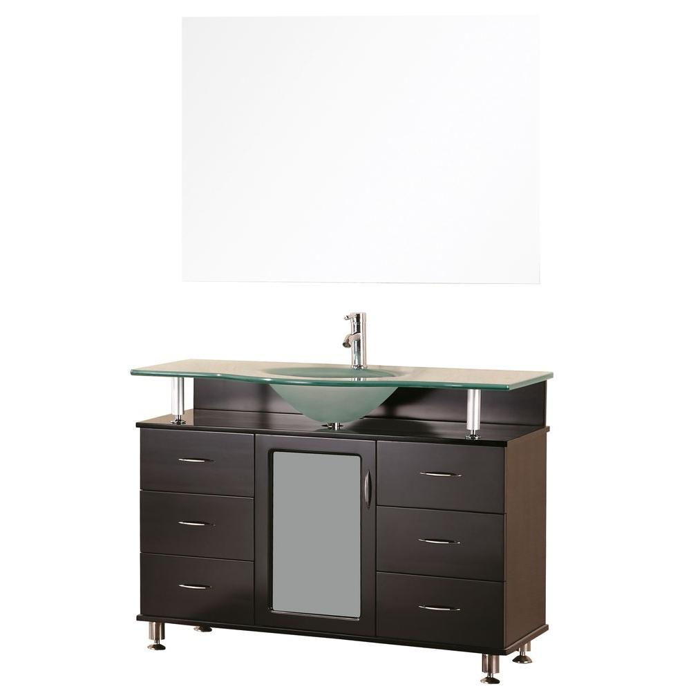 Design Element Huntington 48 In W X 22 In D Vanity In Espresso