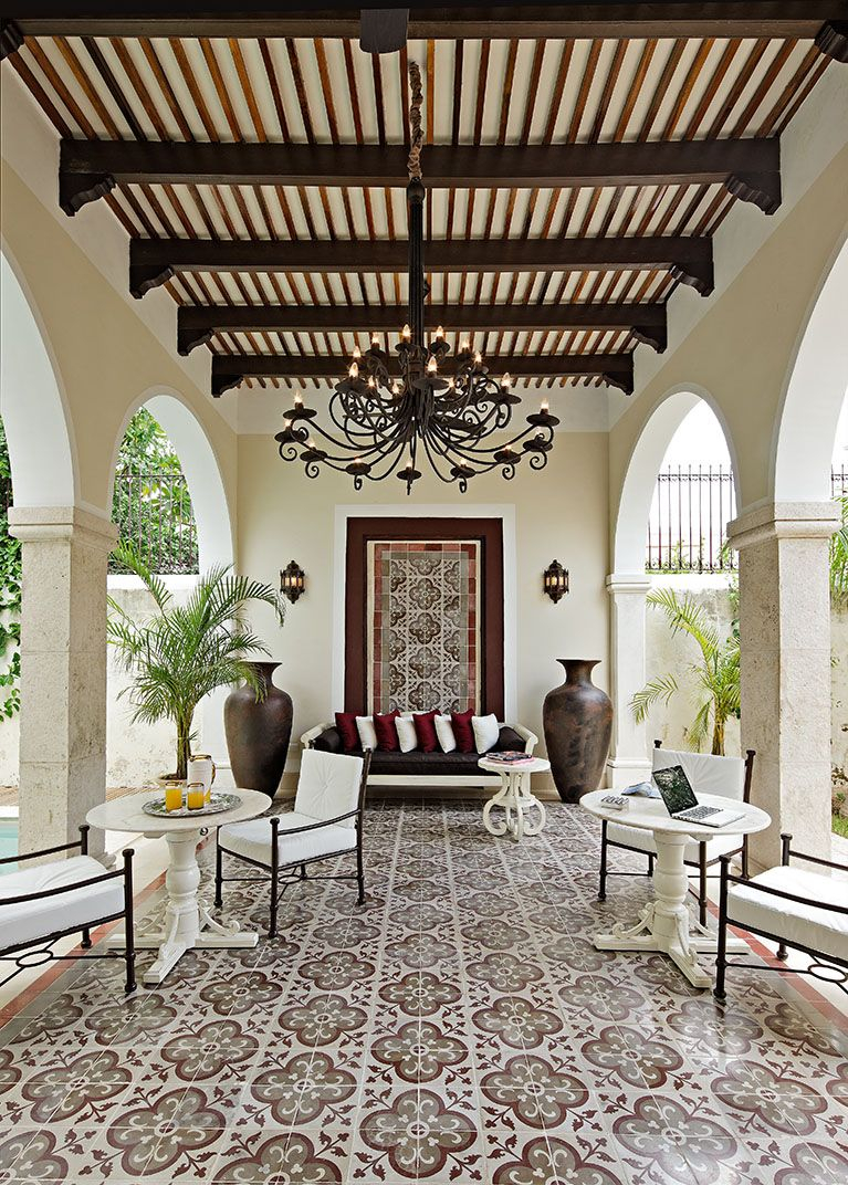 Design Ideas For Outdoor Living Spaces Patios Spanish Style