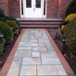Flagstone Patio with Brick Border