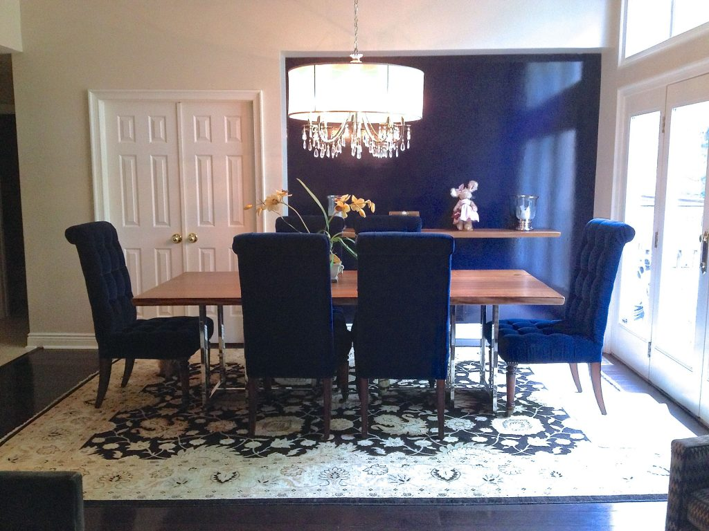 Dining Room Navy Blue Dining Room With Comfy Navy Blue Chairs