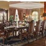 Cherry Wood Dining Room Table Set