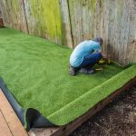 DIY Artificial Grass Patio