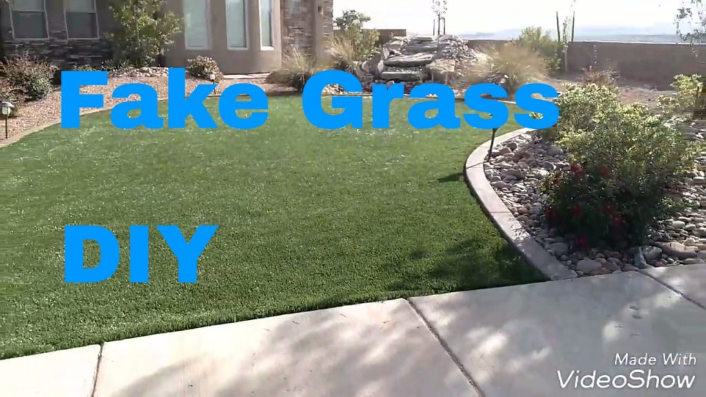 Diy Fake Grass Install Cheap And Easy Faux Grass With No Maintenance