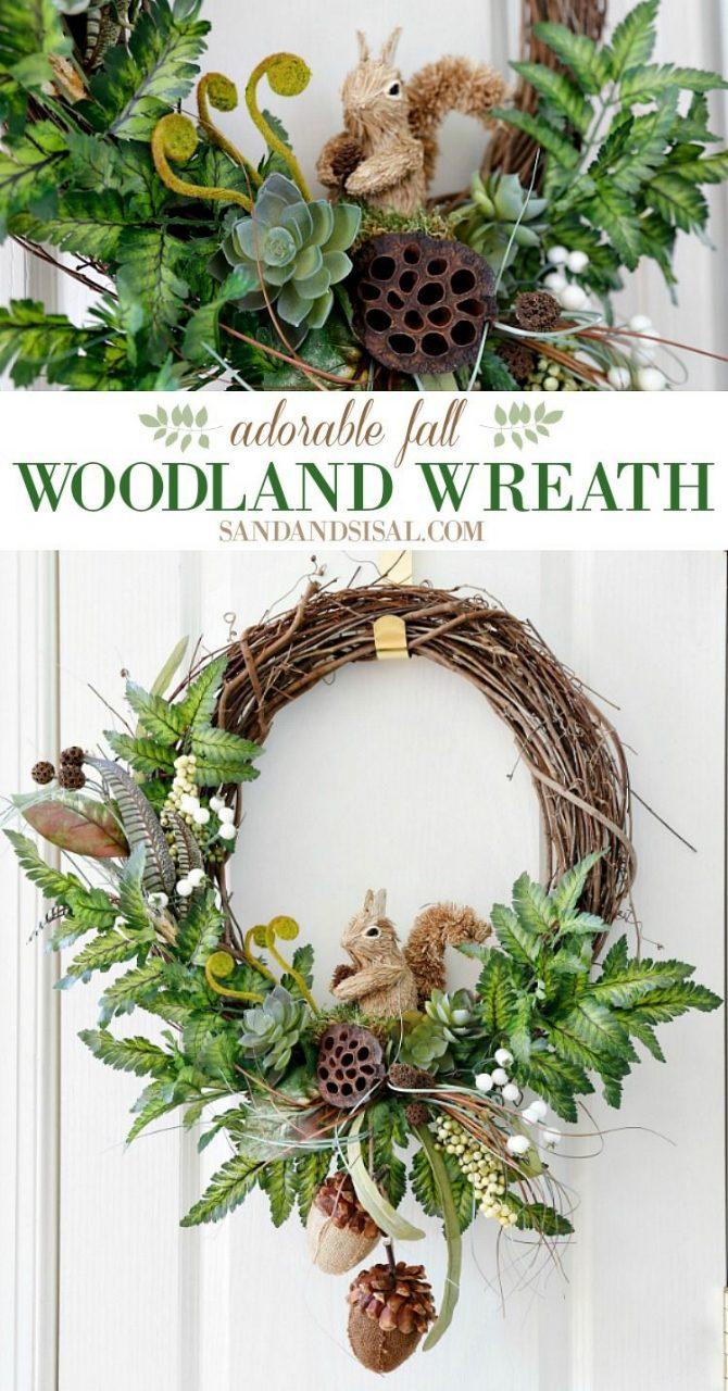 Diy Fall Woodland Wreath Fall Decorating Ideas Wreaths Fall