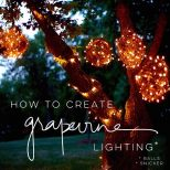 Diy How To Make Hanging Grapevine Balls With Twinkle Lights