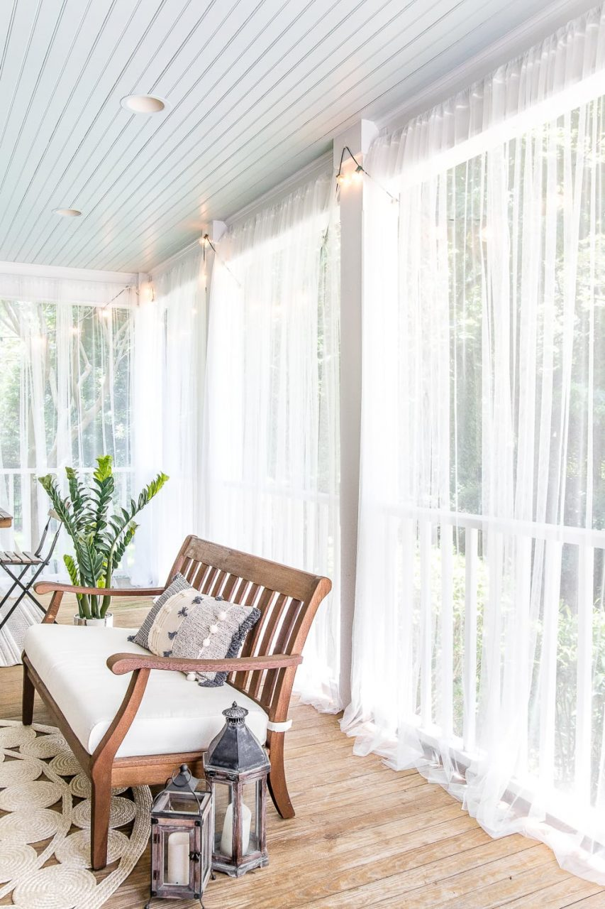 Diy Outdoor Curtains And Screened Porch For Under 100 Blesser House