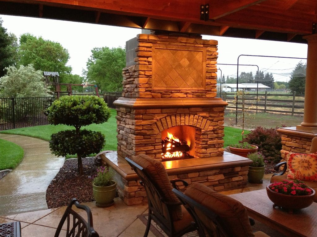 Diy Outdoor Fireplace Project Youtube