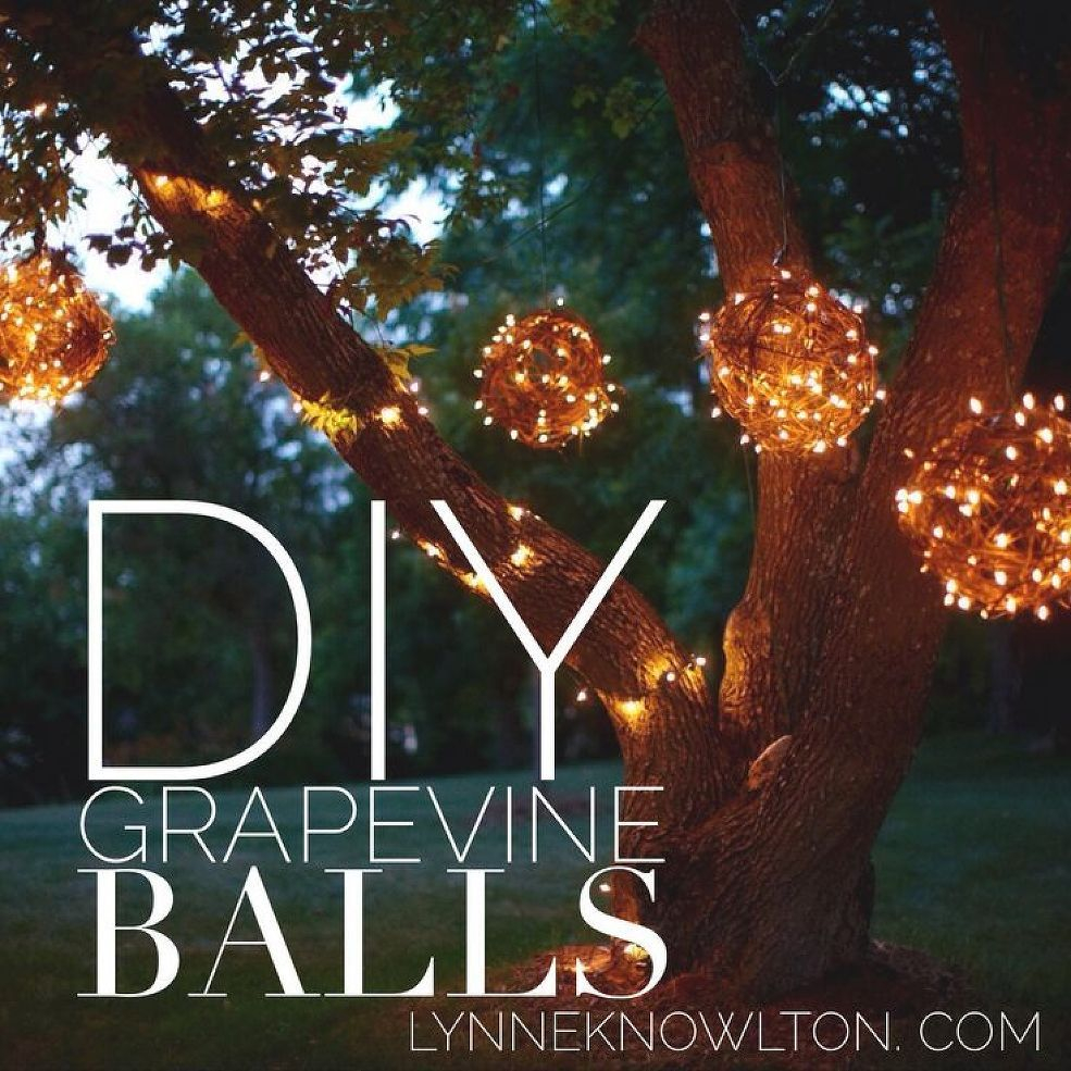 Diy Outdoor Lighting Grapevine Balls Wreaths Outdoor Lighting