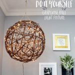 DIY Grapevine Ball Lights Outdoor