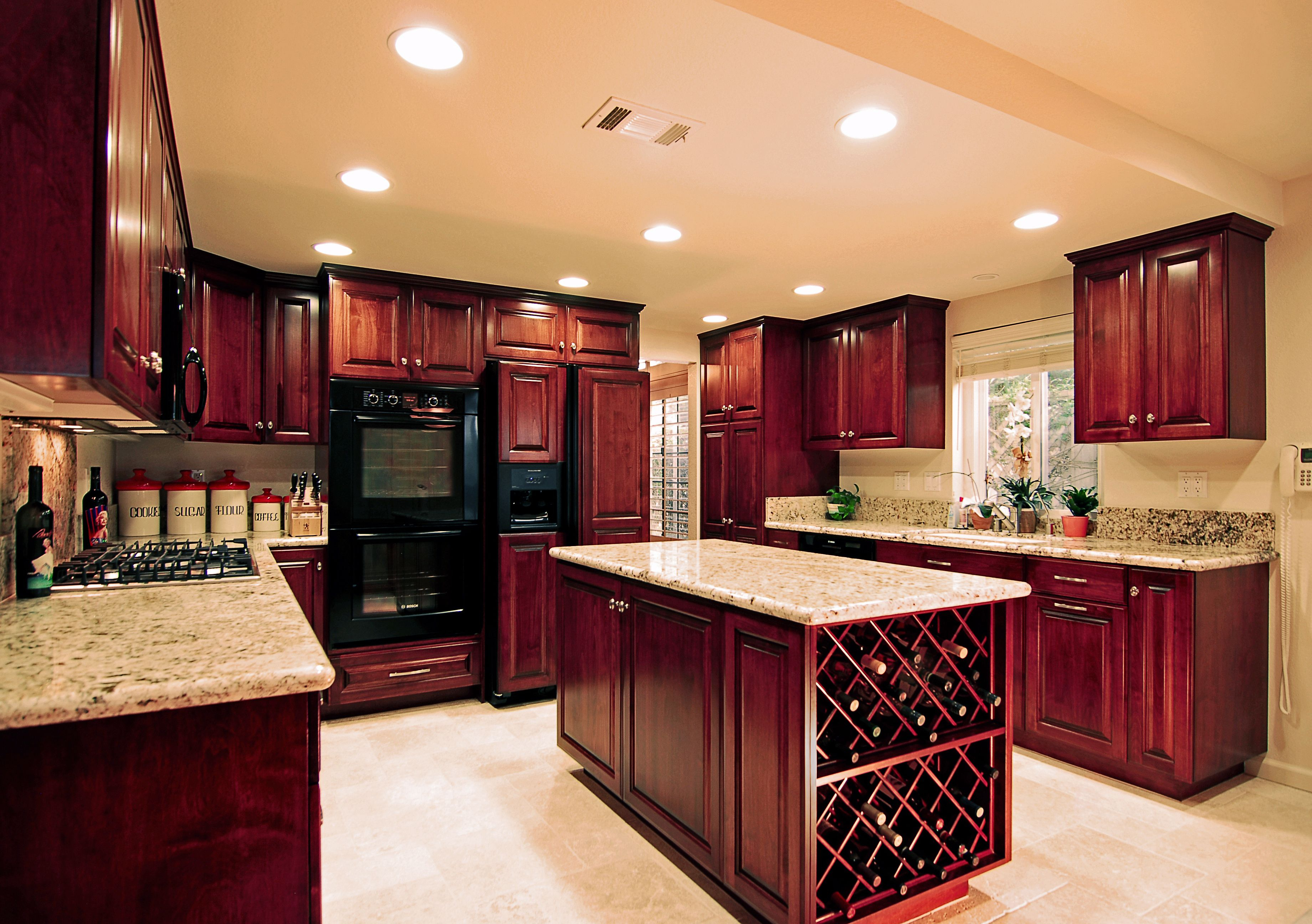 Dream Kitchen Cherry Cabinets And Granite House Things In