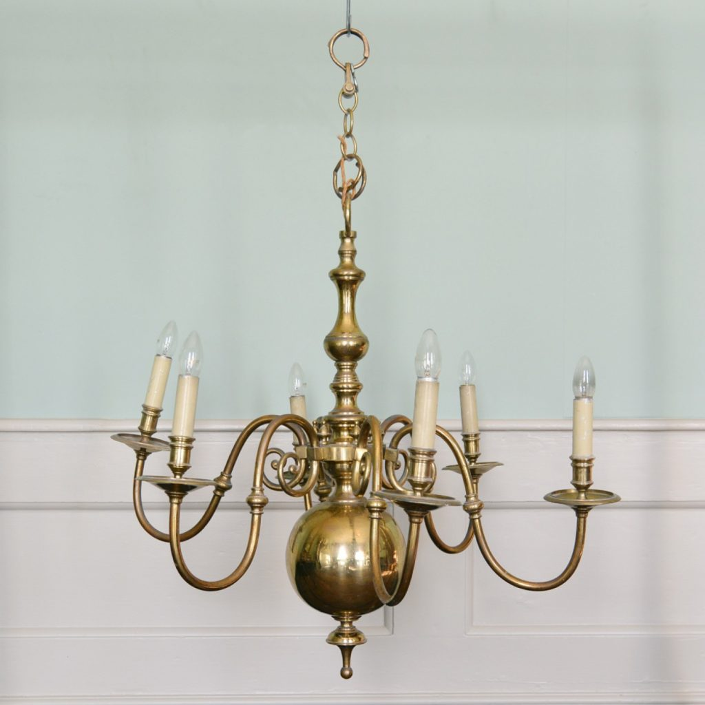 Dutch Style Brass Chandelier Lassco Englands Prime Resource For