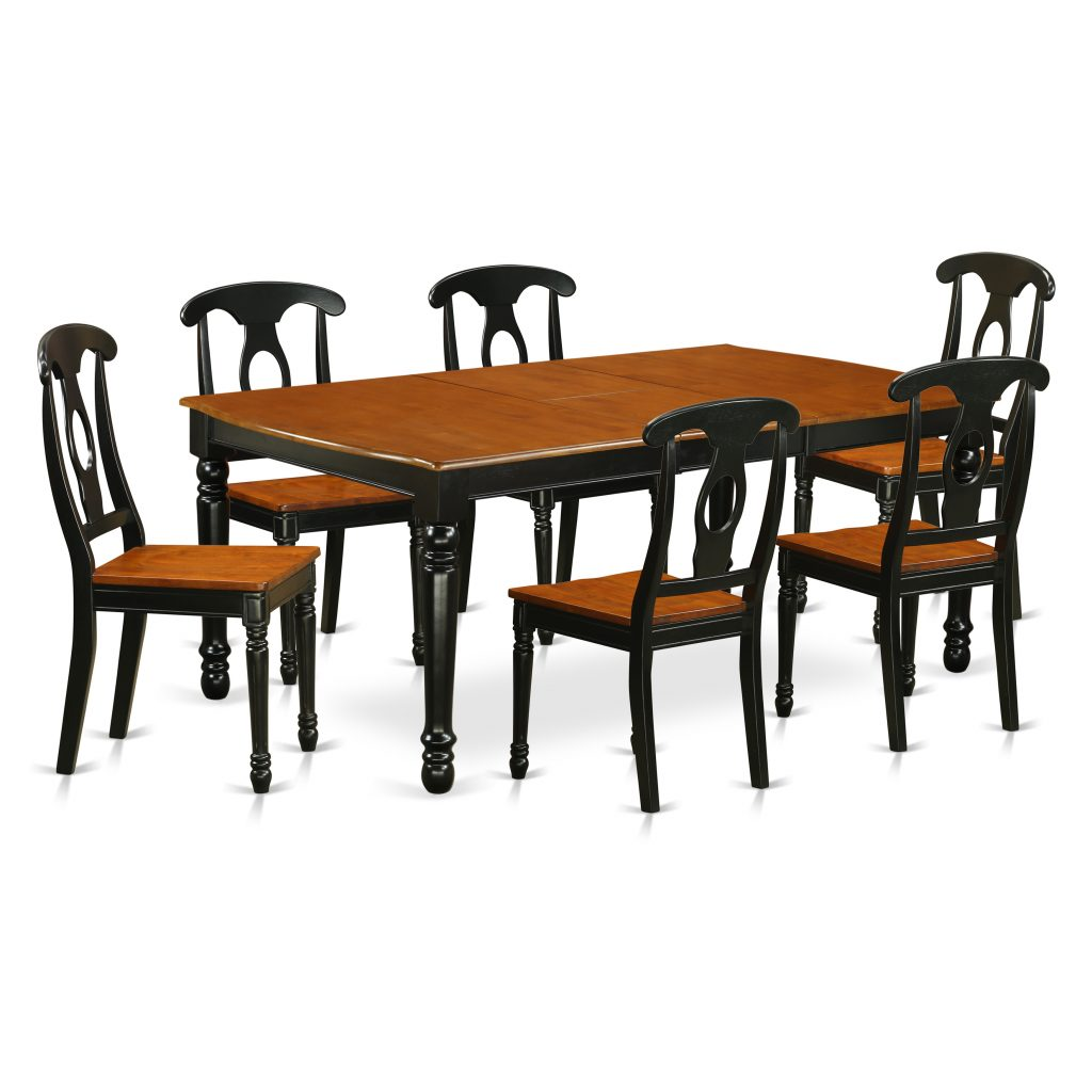 East West Furniture Doke7 Bch W 7 Piece Table And Chair Set With One