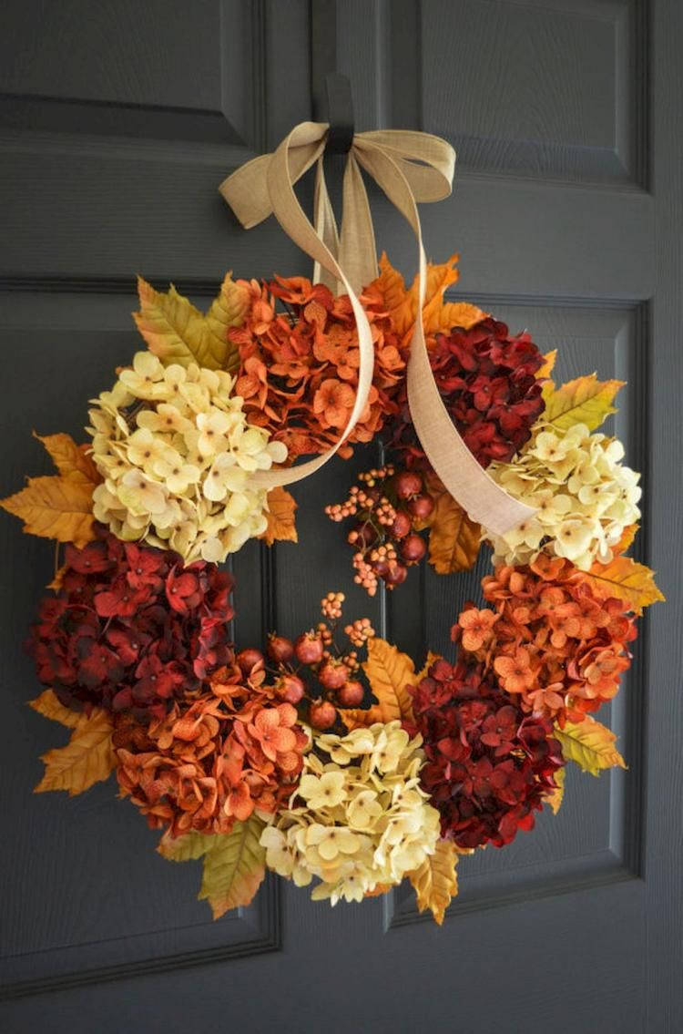 Easy Thanksgiving Decor Ideas Decorations Diy Fall Wreath Fall